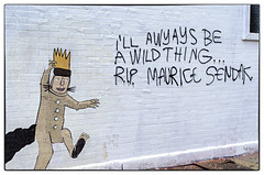 I'll Awyays Be a Wild Thing - RIP Maurice Sendak (swanksalot) Tags: wickerpark streetart chicago 35mm graffiti rip wildthing mauricesendak faved fav10 don'tfret