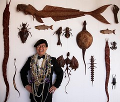 Dr. Takeshi Yamada and his rogue taxidermy works at the Museum of World Wonders in Coney Island, Brooklyn, New York. Photograph by Leslie van Stelten. November 1, 2006 (MUSEUM OF WORLD WONDERS (Part 3) Dr.Takeshi Yamada) Tags: portrait sculpture newyork celebrity art japan brooklyn painting coneyisland tokyo artist dragon dinosaur manhattan georgebush gothic goth victorian evolution ufo taxidermy gourmet charlesdarwin vogue cnn playboy osaka oddities mermaid salvadordali benjaminfranklin paranormal billclinton billgates mythology renaissance pbs abrahamlincoln gq ronaldreagan sideshow freaks jackalope globalwarming alchemy waltdisney cabinetofcuriosities kunstkammer zoology pablopicasso steampunk wunderkammer damienhirst cryptozoology alberteinstein barackobama rushlimbaugh stevenspielberg leonardodavinci fijimermaid cryptid michaelbloomberg mittromney strangeanimal bioengineering seanhannity joebiden michaelsavage takeshiyamada museumofworldwonders roguetaxidermy searabbit marklevin molecularscience freakyanimal