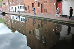 Gas Street basin (ireniclife) Tags: life city windows people urban building reflections walking cycling canal doors towpath birminghamuk redbrick odc canalside gasstreet tapandspile