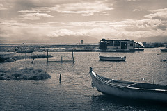 "fish tavern ""banglandesh"" (CrippleHorse) Tags: sea clouds landscape boat riverdelta zenit12xp kalochori"