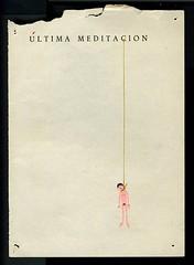 Javier Calleja. Última meditación. 2010.Técnica mixta s. papel.17,2x12cm