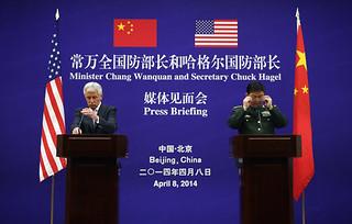 美防长向中国重申将履行对日防卫义务