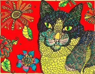 Folk art Zentangle