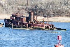 Finished with Engines (TugSailor) Tags: abandoned marine maritime tug kills derelict boneyard wrecks newyorkharbor arthurkill libertyservice
