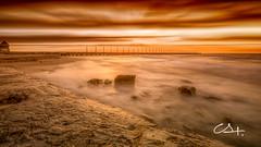 Martian (Gallitosoto2) Tags: sunset sea sky sun beach sunrise sand outdoor playadelcarmen dramatic neutraldensity foregroundblur ninjanodal fujifilmx100t bowernd8stops