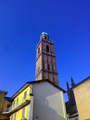 Campanile della Chiesa parrocchiale (Mannivu) Tags: buildings caravaggio