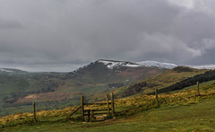 Snowy Mam Tor.. (johngregory250666) Tags: camera new old uk blue light sky orange snow man green nature field yellow clouds digital rural fence lens landscape spring nikon exposure pretty snowy district derbyshire great natur peak scene ridge april fields tor nikkor footpath stile springtime catandfiddle imagesofengland