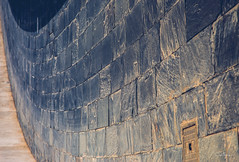 (orwa_farran) Tags: city nyc blue shadow sky blackandwhite white art colors field lines rock stairs studio landscape la artist outdoor geometry stadium horizon line beam depth doha qatar katara