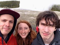 Old Faithful (phoebe.yo) Tags: park old hot water spring roadtrip steam national yellowstone wyoming geyser faithful selfie tectonic