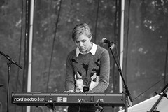 People - Keyboard player (Koku85) Tags: people blackandwhite musician canada monochrome event