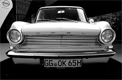 year of manufacture: 1963 (la_imagen) Tags: auto bw car blackwhite bregenz oldtimer sw schwarzweiss opel 1963 araba kadett kraftfahrzeug beyazsiyah eskiaraba
