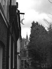 Half Mooning? (innpictime  ) Tags: cambridge pub lane gaslamp gaslight pubsign halfmoon pembrokecollege formerpub closedpub expub delicensed littlestmaryslane 522011860117691
