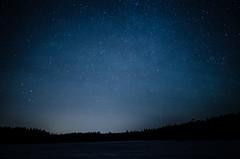 Forgotten Skies (calmingechoes) Tags: longexposure winter sky lake water stars landscape nightscape sweden nightsky