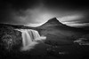 Kirkjufell (vulture labs) Tags: longexposure blackandwhite bw clouds zeiss photography waterfall iceland nikon fineart monochromatic workshop kirkjufell fineartphotography vulturelabs