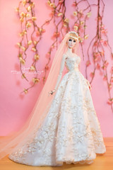 """Aquatalis """" THE ROSEMARY"""" by AlexNg (AlexNg & QuanaP) Tags: our by store long hand veil with crystal photos ivory etsy couture embroidered beading available alexng therosemary quanap aquatalis wwwetsycomshopaquatalisboutique"""