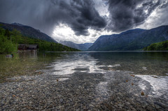Storm approaching - Lake Bohinj - Slovenija (R.Smrekar-CH) Tags: lake landscape spring d750 thunderstorm slovenija hdr bohinj 000000 smrekar
