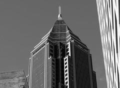 Detail of Bank of America Tower (micro.burst) Tags: atlanta urban bw detail georgia architectural bankofamericatower pentaxk3 camerautility5