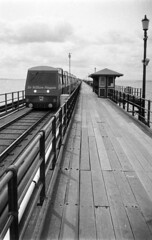 Little Train (Antony J  Shepherd) Tags: halfframe southend fomapan100 fomapan agat18
