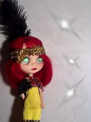 Blythe-a-Day June#15  Weird Science &#16 Magic &20 Who Can it Be Now &#22 Karma Chameleon: Maggie/Madame Nadezhda