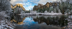 Cool and refreshing a snow storm blows through Yosemite leaving the valley dusted in a white powder. El Capitan and Bridal Veil, the guardians of the Valley reflect in the smooth still waters of the Merced River | by Darvin Atkeson. [1920x775] (Jordan Benge) Tags: california park mountains clouds forest nevada canyon sierra glacier jordan national valley yosemite halfdome rest bridalveil elcapitan benge darvin reddit atkeson darv lynneal ifttt jordanbenge yosemitelandscapescom jordanbengecom httpwwwjordanbengecom