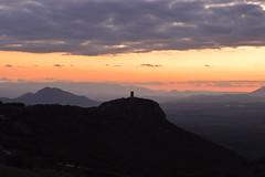 (waltgire) Tags: sunset shadow sky orange mountain black tower landscape atardecer spain nikon torre paisaje andalucia cielo granada arabe montaa grenade naranja vigilancia vigia vigilance d3200