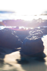 Afternoon at the beach (daniellih) Tags: ocean light sun sunlight reflection beach nature water june rock island bright outdoor wave australia melbourne victoria shore phillipisland phillip 2016 canonbody flynns flynnsbeach nikonlens freelens freelensing daniellih