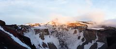 IMG_4771-Pano20160612 (Zac Li Kao) Tags: mountain snow japan sunrise canon dawn volcano fuji hiking hike powershot climbing crater fujisan g1x