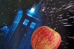 an apple a day keeps the Doctor away (Frank S (aka Knarfs1)) Tags: fiction apple who dr science fantasy bbc scifi series tardis apfel whovian