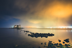 Sant Joan tower (modesrodriguez) Tags: longexposure seascape color tower water landscape lights torre ruin joan sanjuan pollution sant deltebre amposta deltadelebro