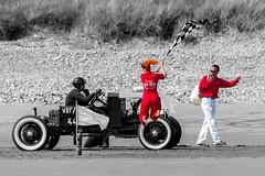 The starter, Pendine sands, Hot rod event 2016 (technodean2000) Tags: uk hot west beach monochrome car wales race nikon outdoor event land vehicle rod sands pendine lightroom d610 nion vhra vhrh