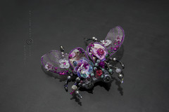"""Blossom1"" luxury brooch or pendant (neringaci) Tags: flowers blue summer woman white inspiration black art wool fashion felted silver butterfly bug design fly beads drops wings crystals gallery pin foto purple legs blossom designer handmade unique background sewing brooch gray beetle silk craft insects indoor jewellery textile fabric fantasy gift mohair sakura pearl swarovski sequins embroidered beaded multicolor organza glassbeads seedbeads neringa grassgreen lampworkbeads leyers outfitt neringaci"
