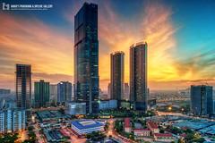 vl_04836 (Hanoi's Panorama & Skyline Gallery) Tags: city sunset sky building skyline architecture skyscraper canon asian asia downtown capital skylines architect hanoi asean appartment hni skyscrapercity cugiy caoc hanoiskyline hanoipanorama keangnamlandmark hanoicityscape vincomnguyenchithanh