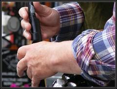 the chanter (Maewynia) Tags: music irish cap instrument plaid bagpiper clifden uilleannpipes desshannon httppipersieresourcesinstrument