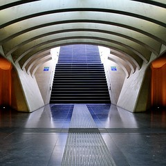 the empty stairway (mujepa) Tags: architecture belgium belgique gare stairway railwaystation trainstation calatrava escalier lige guillemins mygearandme photographyforrecreationeliteclub rememberthatmomentlevel1 rememberthatmomentlevel2