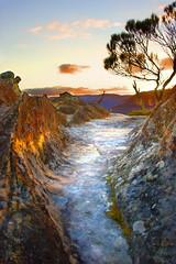 Natures Pathway (edwinemmerick) Tags: sunset 20d nature rock canon landscape eos sandstone australia bluemountains nsw edwin goldenhour flatrock wentworthfalls emmerick edwinemmerick
