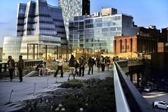 The High Line (mudpig) Tags: park nyc newyorkcity people ny newyork architecture geotagged cityscape strangers gothamist frankgehry hdr railstotrails highline nuevayork cidadedenovayork mudpig stevekelley iacbuilding      lavilledenewyork stevenkelley