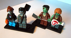 Undead double-date (KadasBence) Tags: new fun toy toys cool interesting lego good zombie badass great creative bad mini best special creation frankenstein figure decal date custom figures exciting zombi creations moc minifigures