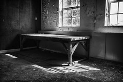 Workbench (Edwin van Nuil Photography) Tags: old light abandoned netherlands blackwhite factory photowalk oisterwijk hdr workbench urbex leatherfactory kvl leerfabriek exif:iso_speed=100 exif:focal_length=24mm exif:make=sony camera:make=sony exif:aperture=50 nex7 sonynex7 zeisssonnarte24mmf18za camera:model=nex7 exif:model=nex7 exif:lens=e24mmf18za