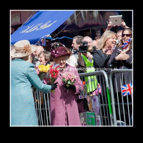 Local residents meet Her Majesty The Queen at Windsor Guildhall-102