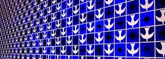 ATHOS (Rafael N. Dayrell) Tags: blue bird church brasil ceramic nikon magenta brasilia athos painel bulco d5100