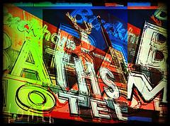 Home was the Buckhorn Baths Motel (App Girl aka, The Mad Apper!) Tags: befunky vintagemotelsigns holgafx buckhornbathsmotel pixlromatic