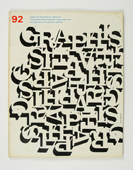 Cover of Graphis by Alan Fletcher, 1960 (Herb Lubalin Study Center) Tags: magazine cover 1960 alanfletcher graphis type:face=clarendon