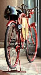 Fire! Fire! (michele.tedesco) Tags: old canon vintage fire fireman firemen rosso antico bycicle vecchio emergenza pompieri vigilidelfuoco biciletta mezzoditrasporto 1100d