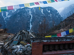 Pray. (everytin irie) Tags: nepal namche everestbasecamp namchevdc