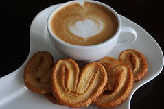 cookies and cuppa (coffphy) Tags: art cookies hearts capucino coffphy