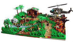 Search And Destroy (Eturior) Tags: river war lego contest scene vietnam huey decals diorama proto brickarms eturior
