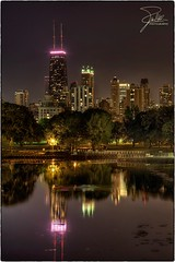 Lincoln Park (Frank Kehren) Tags: lake chicago reflection night canon illinois unitedstates explore f11 hdr 24105 johnhancocktower southpond canonef24105mmf4lis ef24105mmf4lis canoneos5dmarkii northstocktondrive