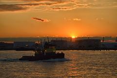 Sailing to Byzantium (Phyllis Featherstone) Tags: catchycolors nj tugboat statenisland bayonne kvk bayonnebridge newyorkwaterfront coastlinebaystar