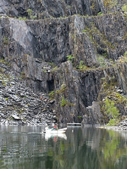 Rowing (rowanlea51) Tags: toxic scotland control slate poison quarry chemical ballachulish lochaber biocide slatequarry americansignalcrayfisheradication