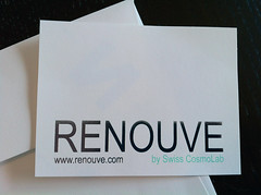 Collateral for Renouve by Swiss CosmoLab (dolcepress) Tags: ny beauty youth digital sticker postcard longisland health envelope offset lotion letterhead antiaging foilstamping edgecoloring dolcepress renouve swisscosmolab